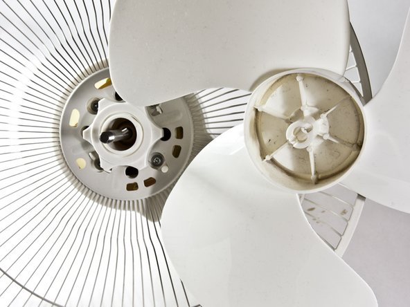 The fan blades should now be easy to lift up.