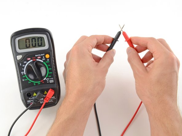 The multimeter tests continuity by sending a little current through one probe, and checking whether the other probe receives it.