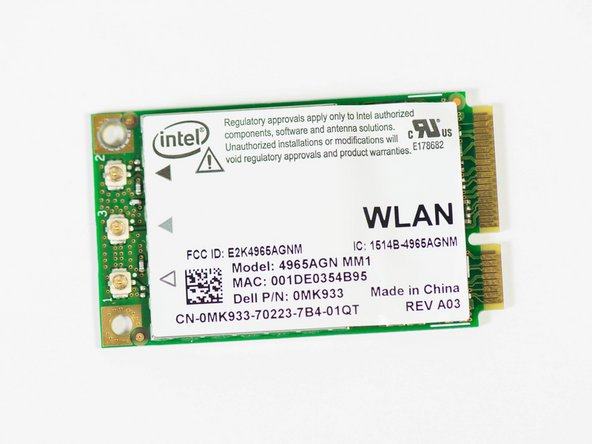 Dell XPS M1530 Wireless Card Replacement