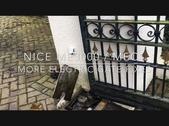 How to Fix Electric gates  Nice MEC1 / ME3000