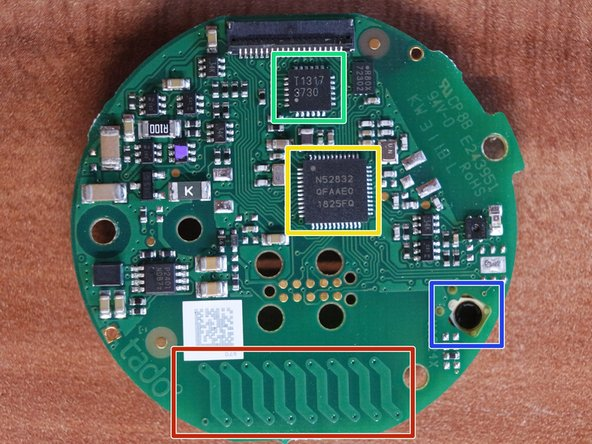 On this side of the PCB you can see several important objects.