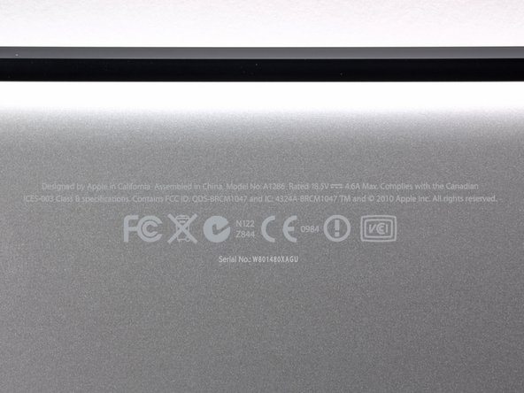 Apple is still using the model number A1286 for the new MacBook Pro. We'll have to find a new way to differentiate this laptop from previous models.