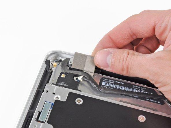 Remove the small piece of EMI foam attached near the Bluetooth board.