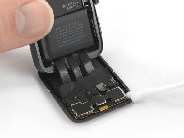 If you are re-using your existing display, carefully clean any adhesive residue stuck to the back.