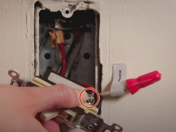 Label the two traveler wires where the up position is held by gold screws of the old switch.