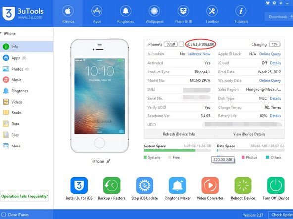 Download the corresponding custom firmware for your iDevice;  http://www.3u.com/tutorial/articles/4207...
