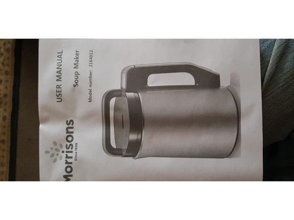Morrison's Morphy Richards Soup Maker error codes