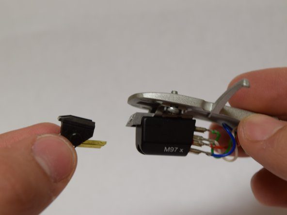 Insert the new stylus into cartridge before mounting headshell.