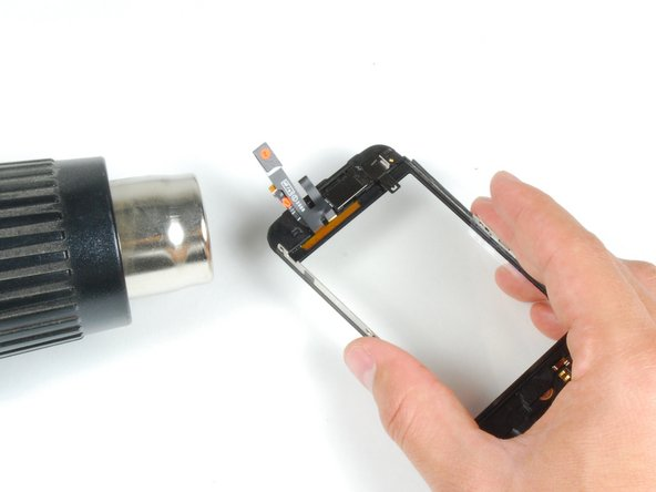 Be careful when using a heat gun in the forthcoming steps. Use it at a very low heat setting, and make sure not to melt the touch screen plastics or Home button. The metal frame tends to conduct heat very well so try to avoid touching these hot areas.