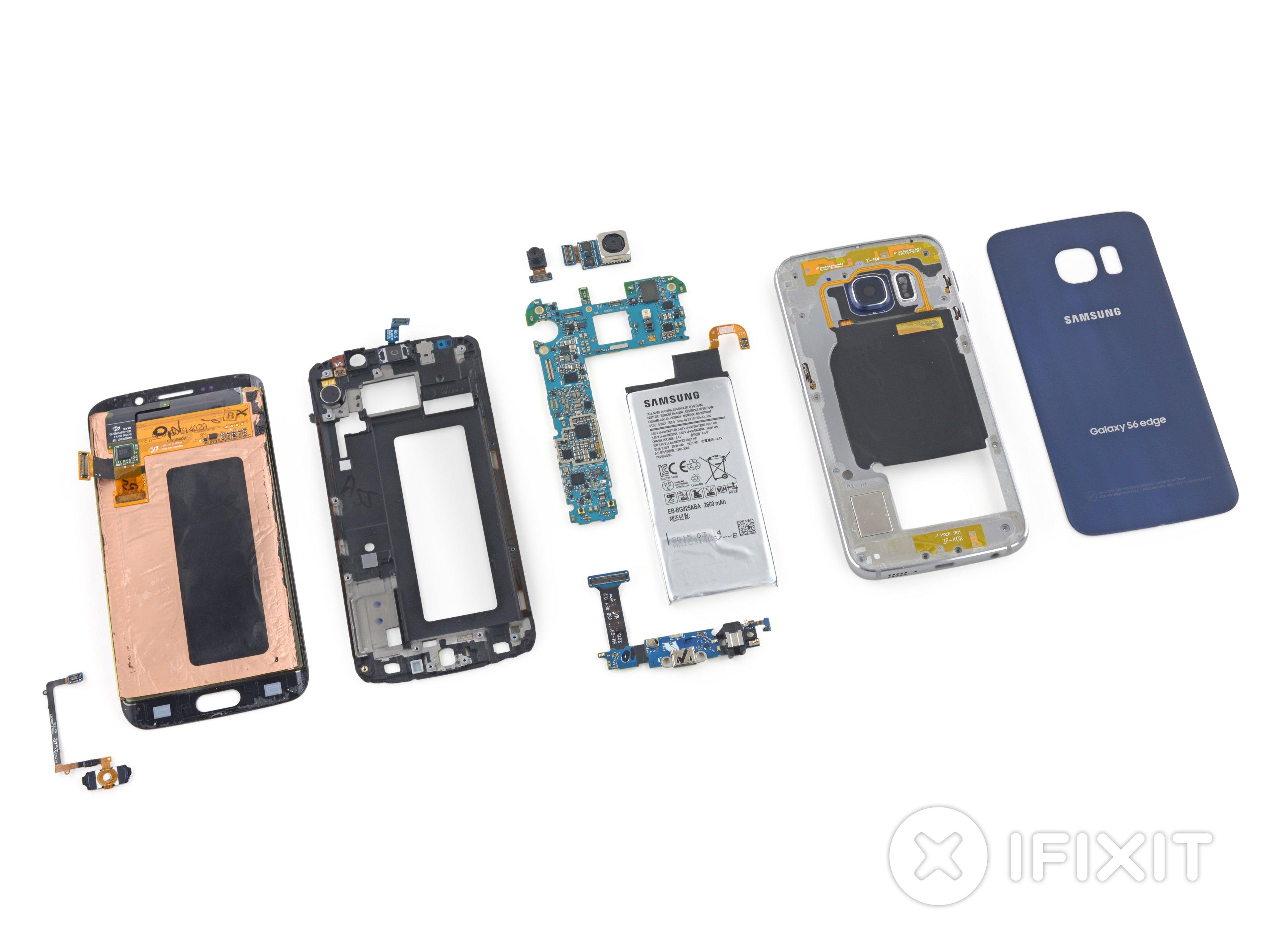 Vue éclatée du Samsung Galaxy S6 Edge