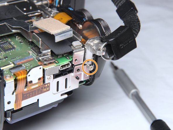 Right side.: Remove 1 screw