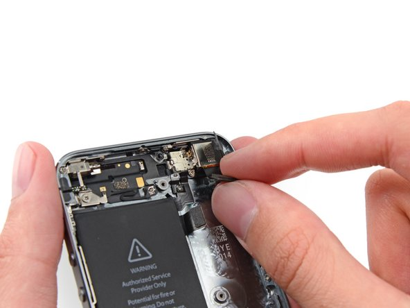 Remove the rear-facing camera from the rear case.