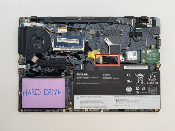 Carefully unplug the battery cable from the connector on the motherboard, using your fingers to pull the cable straight out of the port.