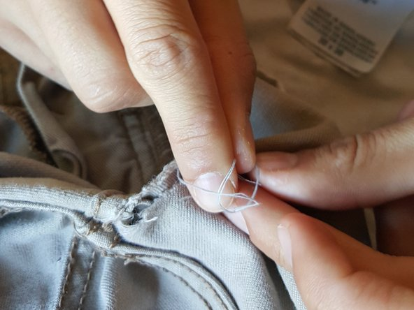 How To Fix A Hole In Khaki Pants