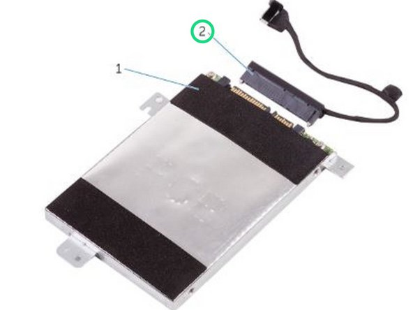 Connect the interposer to the hard-drive assembly.