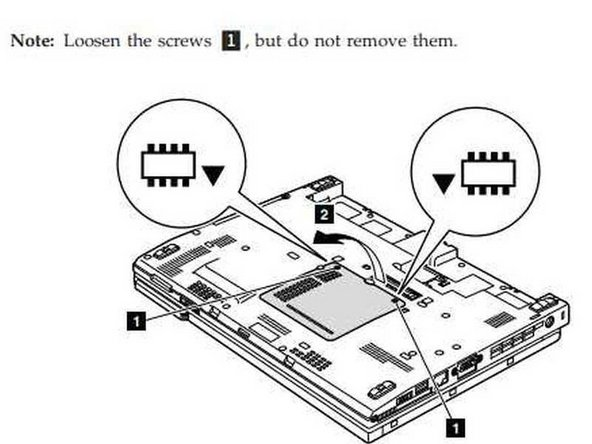 2. Remove the panel to access the memory modules.