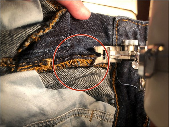 Move to the right side and sew along the previous stitching.