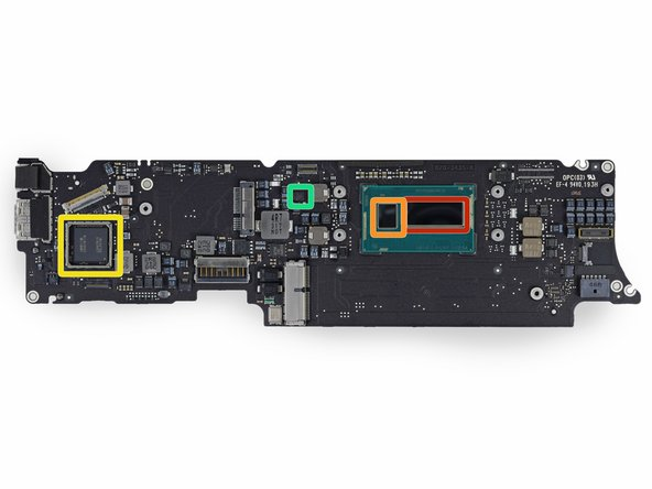 The ICs on the front side of the logic board: