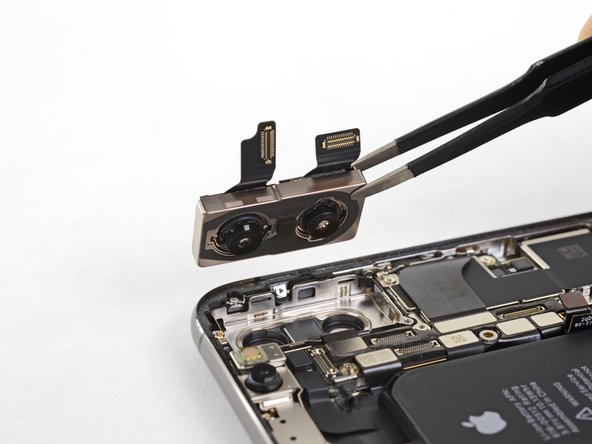 Remove the rear-facing camera assembly.