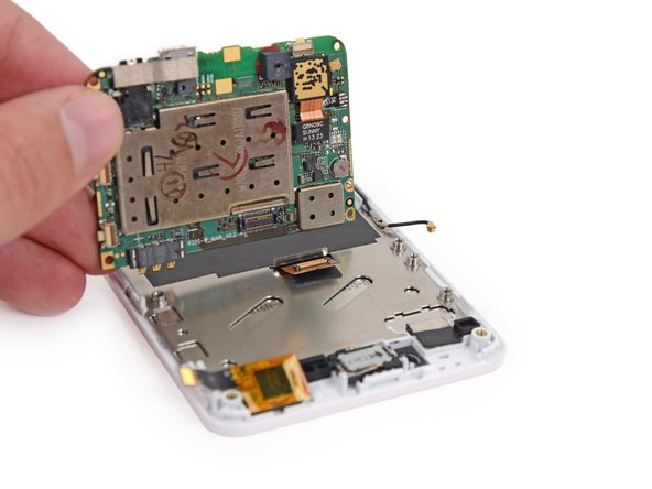 Remove the motherboard from the display assembly.