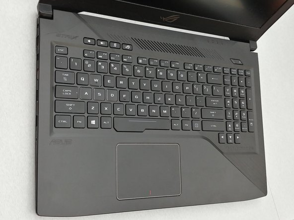 Find which key is missing/broken from the keyboard.