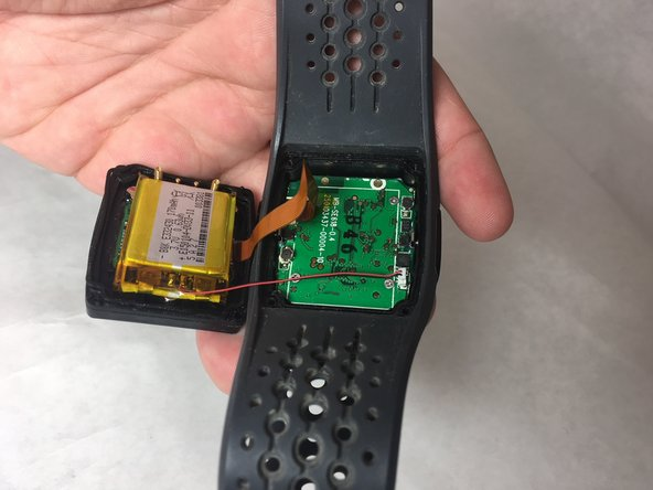 Pull off the back cover of the watch after the 4 screws are removed from the first step.