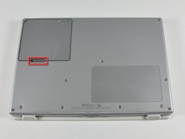 Reemplazo de la batería del PowerBook G4 Titanium DVI