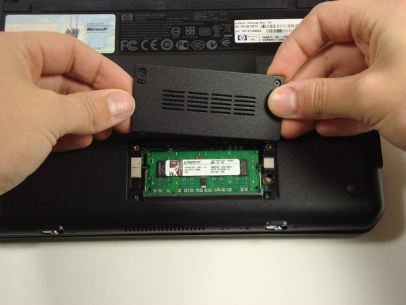 Reinstall cover and screws.