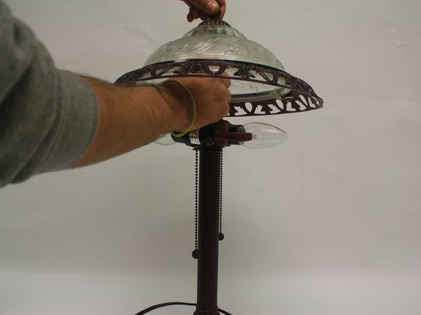 Antique Lamp Lampshade Support Replacement