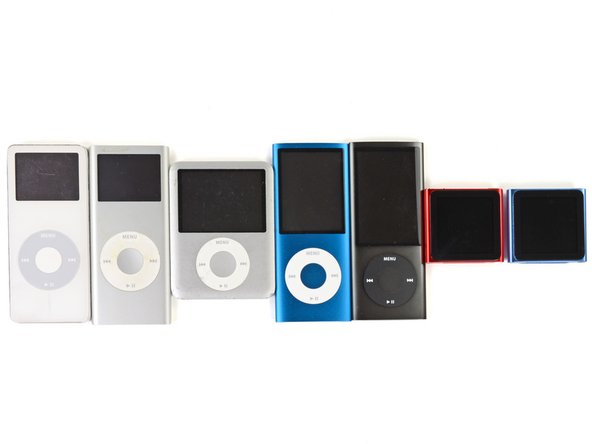 United they shall stand. Oh joy! iPod Nano family reunion (from left to right):
