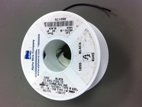 Locate QCPN#10669 which is a black hookup wire.