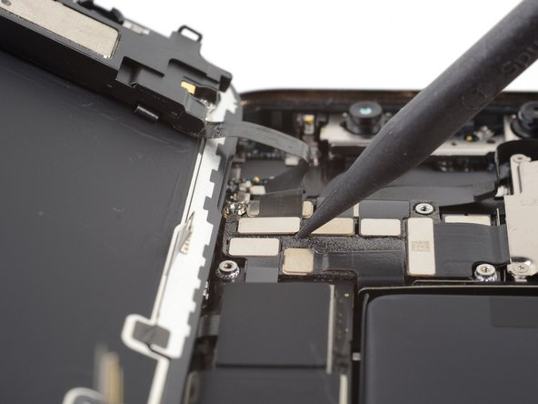 Use a spudger or a fingernail to disconnect the front sensor assembly cable connector.