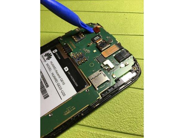 Sganciare connettore sensore luminosità