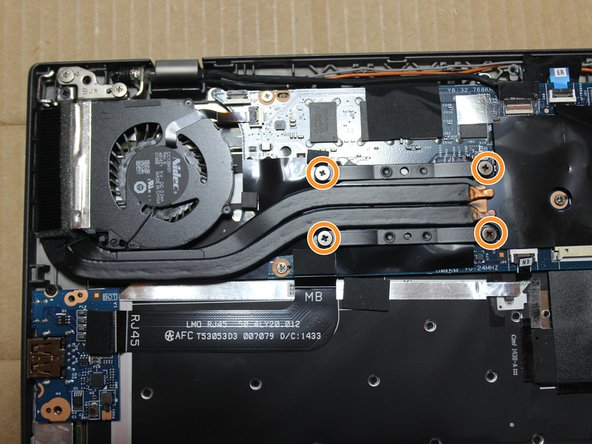Loosen screws and pull fan up and out of the case.
