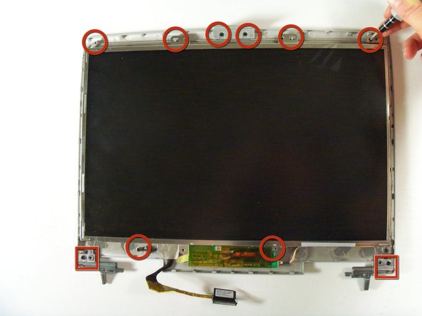 Remove all screws on the top of the lcd
