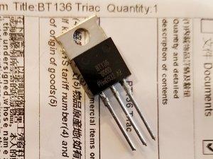 Triac Variable Speed Motor Control (BT136) Repair