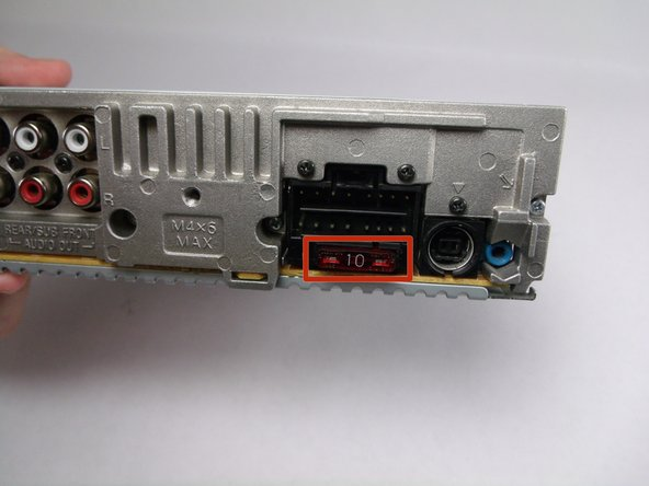 Sony CDX-GT540UI Fuse Replacement