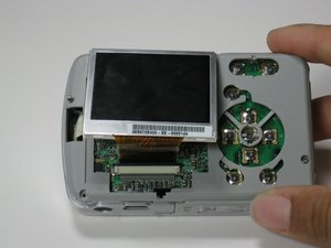 Disassembling Polaroid a520 LCD Screen