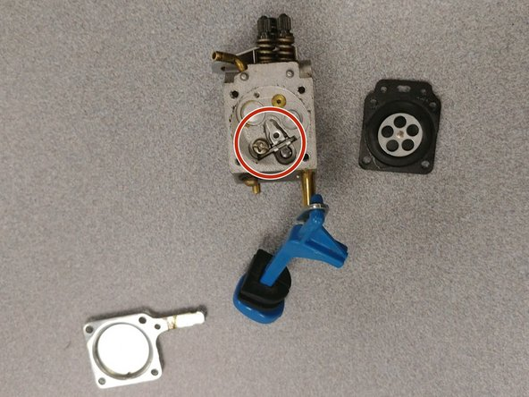 Install a new float set and needle valve.