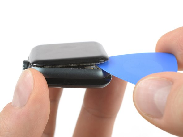 Insert an opening pick under the display and carefully separate the Force Touch gasket from the display.