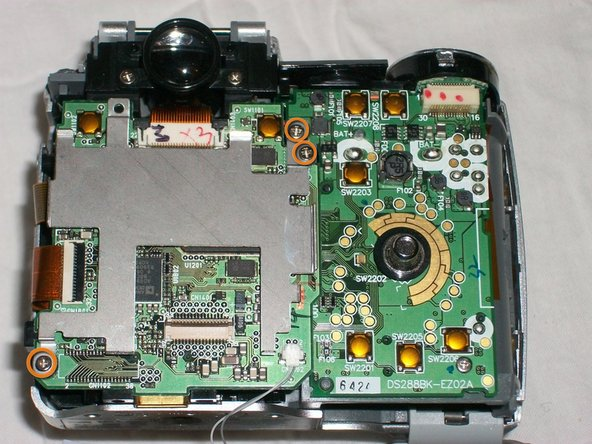 Remove the 3 screws from LCD metal housing plate