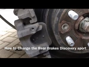 How to wind back the EPB, electronic parking brake, to change rear brake pads