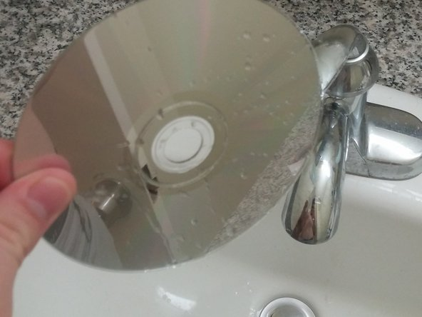 Let the CD air dry, or dry with towel.