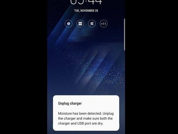 三星Galaxy S9 Plus 湿度感应问题修复
