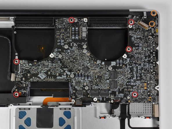 The logic board with all connectors removed.