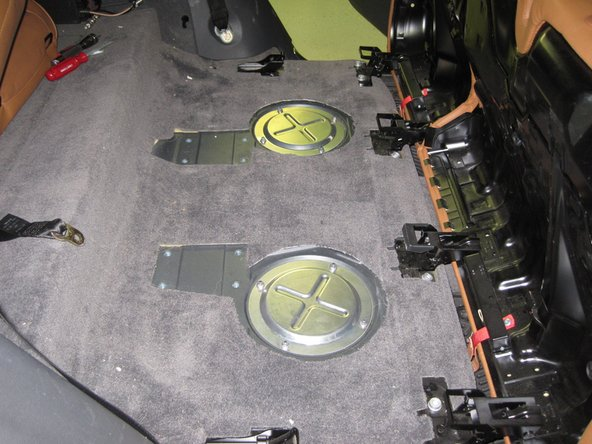 Install the covers back on top of the gas tank ports.