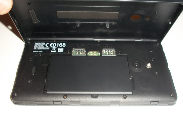 Once the back cover is removed, the battery will be in plain sight.