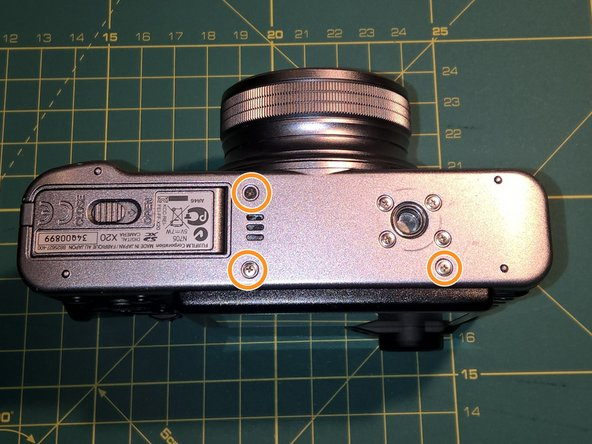 Fujifilm X20 Disassembly and sand removal
