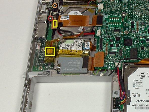 """PowerBook G4 Aluminio 15 """"1.67 GHz reemplazo de tarjeta de CC y  sonido"""