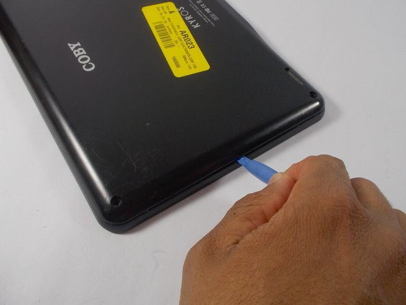 Potential for device damage: Be careful not to break the inner plastic tabs while pulling the back cover off.
